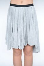 New Free People pleated gray high low skirt black top band