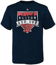 Boston Red Sox MLB Majestic Home Plate Mens Navy Blue T Shirt Big & Tall Sizes