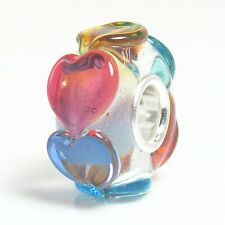 925 Sterling Silver Colorful Endless Love Glass Bead For European Charm Bracelet