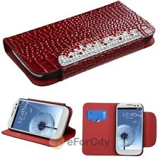 Luxury Wallet Holder Leather Flip Case Cover For Samsung Galaxy S3 SIII I9300