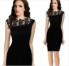 Women's Summer Bodycon Lace Evening Party Sexy Cocktail Prom Sexy Black Dress