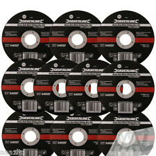 """115mm Ultra 1mm Very Thin Flat Metal Cutting Discs 4.5"""" Angle Grinder Silverline"""