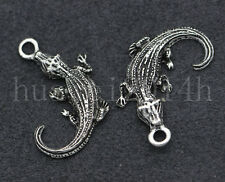 10/40/200pcs Tibetan Silver Small gecko Jewelry Finding Charms Pendant 27x17mm