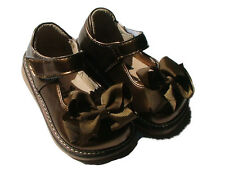 MOOSHU Trainers Squeeker Shoes Add A Bow NEW Bronze Sz 3-9
