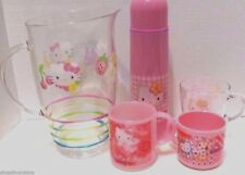 SANRIO HELLO KITTY Kitchen Line Cups, Thermos, Pitcher - NEW with TAGS