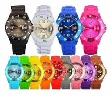 NEW UNISEX SILICON DATE WATCH RUBBER WRIST JELLY BAND FOR BOYS, KIDS AND GIRLS
