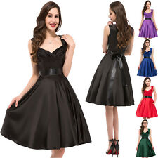 Retro 1950s 60s Rockabilly Pinup Swing Housewife Evening Party Vintage Dress New