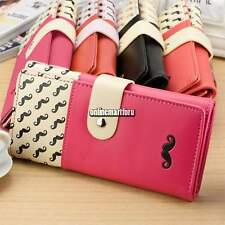 Women Lady PU Leather Long Purse Clutch Cute Button Wallet Bag Card Holder new O