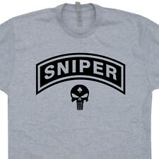 Sniper T SHIRT US Military Navy Seals American Marines The Punisher Army Skull T