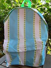 Large Turquoise STRIPED POLKA DOT BACKPACK School Campus Book Bag Travel NEW