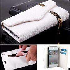 ZIPPER PU Leather Wallet Flip Hard Case Cover Card Holder For iPhone 5S 6S PLUS