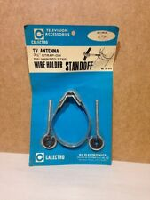 """Vintage Calectro TV Antenna 3 1/2"""" strap on galvanized steel  wire hold standoff"""