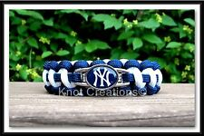New York Yankees Paracord Bracelet Officially Licensed MLB Charm