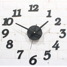 DIY Wooden Wall Clock Art Designs Decor Numbers Stickers Watch Time Living Room