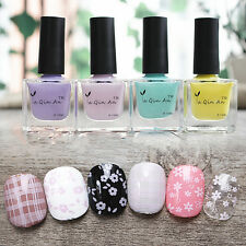 18ml Light Pink Purple Nail Art Stamping Stamp Polish Pure Color Nail Varnish
