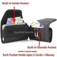 Holster Metal Clip+w/Built In 2 Money Pocket Pouch To Fit Otterbox Commuter Case