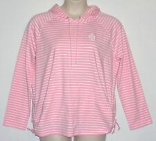 NWT MSRP $75 / $85 - LAUREN PINK RALPH LAUREN Striped Knit Hoodie, Pink / White