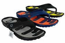 MEN'S AIR SLIP ON SPORT SLIDE SANDALS VELCRO FLIP FLOPS SLIPPERS BEACH SANDALS