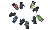 Leather Motorbike Racing Gloves with Double Closure Wrist & Carbon Fiber Inserts