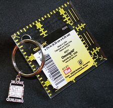 """Quilting Keychain with Charm and 2 1/2"""" Omnigrid quilt ruler (Key Chain)"""