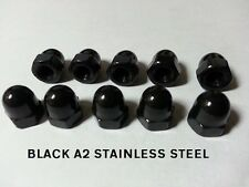 M10 BLACK STAINLESS STEEL DOME NUTS PACK OF 25 or 50 A2 Stainless Steel Bulk