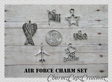 6 pcs Military Charm Set / Choose Set / Air Force Army Coast Guard Marines Navy