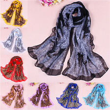 Bohemia Women Lady Pretty Long Soft Chiffon Scarf Wrap Shawl Stole Scarves New