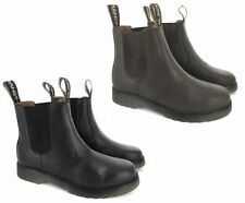 MENS DEALER DM BOOTS CHELSEA BLACK BROWN LEATHER SLIP ON AIRSOLE BOOT SIZE 6-12
