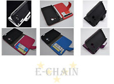 Multi Leather Cover Flip Case HOLDER WALLET For Samsung Galaxy Ace Duos S6802