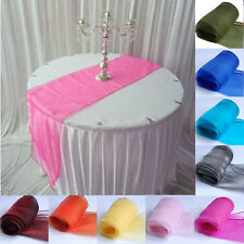 "10 pcs Sheer Organza Table Runner 12"" x 108"" Wedding Party Decoration Supply"
