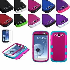 Hybrid Rugged Impact Hard Protective Case Cover For Samsung Galaxy S3 III i9300