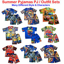 NEW Sz 2~8 KIDS SUMMER PYJAMAS BOYS OUTFIT TOP PJ PJS SLEEPWEAR NIGHTIE TSHIRT