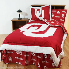 Oklahoma Sooners Bed in a Bag Twin Full King Size Comforter Set CC