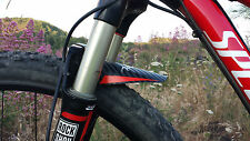 "2 PARAFANGHI MTB STILE MARSH GUARD ""YOU MTB FENDER"" CON TRAMA IN CARBON 1 COPPIA"