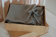 Linen crib bed set, natural linen baby bedding, fitted sheet, crib padded bumper