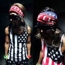 Tank Top Men's Striped Floral T-Shirt Gym Street Fashion Muscle Sleeveless Tee