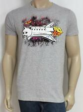 Neff Kitty Shuttle Graphic Tee Mens Gray Heather Short Sleeve T-Shirt New NWT