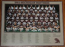 "1983 USFL Michigan Panthers 8 1/2"" x 11"" team photo - Anthony Carter"