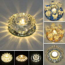Modern Crystal LED Ceiling Pendant Lamp Fixture Lights Chandelier W/Light Source
