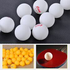 50pcs White Orange 3-Stars 40mm Olympic Ping Pong Table Tennis Ball competition