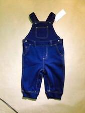NWT Gymboree Boys Smooth Stretch Fleece Inside Warm Overalls Size 0-3 6-12-18 M