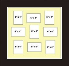 NEW MULTI APERTURE PICTURE FRAME FITS - 6X4 9  PHOTOS Cream Mount Made in UK