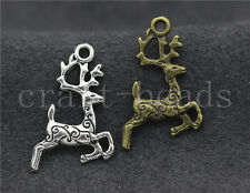 Lot 15/60/300pcs Tibetan silver Lovely two-sided Deer Charms Pendant DIY 20x14mm