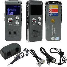 8GB Digital Audio Voice Recorder Rechargeable Dictaphone USB Drive MP3 Player HT