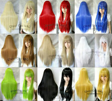 "80CM/32"" Long Straight Cosplay Fashion Wig Heat Resistant with Cap Liner"