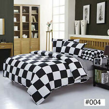 Black & White NEW Single Queen King Sizes Bed Quilt Duvet Cover Bed Set Comfy