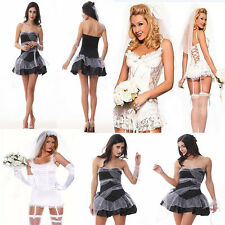 Sexy Women's Halloween Costume Vampire Ghost Bride Zombie Witch Party Dress
