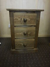 HANDMADE STAINED PINE BANBURY BEDSIDE CABINET - MANY SIZES AND COLOURS