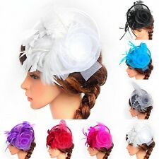 Women Ladies Fascinator Hat Party Cocktail Wedding Hair Clip Headpiece Hair Pin