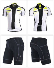 Mens Short Sleeve Bicycle Clothing Bike Team Cycling Jersey Shorts Outfits M-XXL